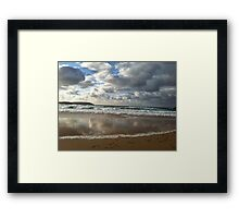 Cloudy Reflection Framed Print