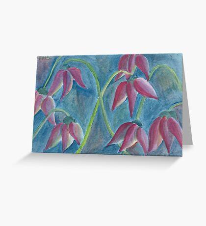 Strange tulips Greeting Card