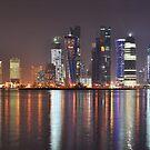 Doha at Night by Joseph Najm