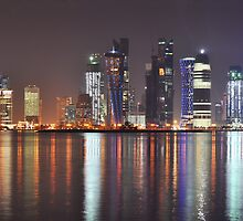 Doha at Night by Joseph Najm