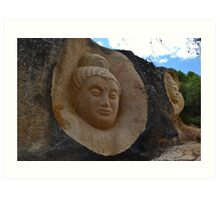 Stone sculptures Art Print