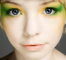 Mask of Yellow and Green by John McIntire