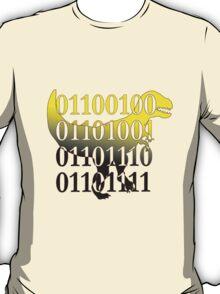 dino binary code t-rex design T-Shirt