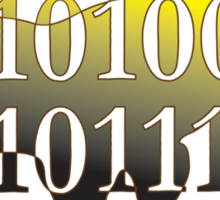 dino binary code t-rex design Sticker