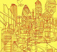 London! Yellow/Red by davidbushell