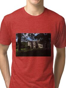 Trerice; Elizabethan Manor House Tri-blend T-Shirt