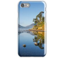 Autumn mist surrounds Catbells and Friars Crag on Derwentwater iPhone Case/Skin