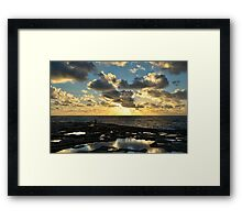 Sunset On The Saltpans Framed Print