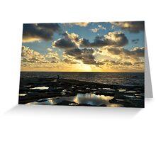 Sunset On The Saltpans Greeting Card