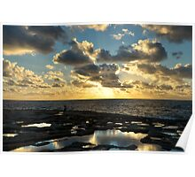 Sunset On The Saltpans Poster