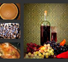 Italian Turkey Dinner Collage by Linda Miller Gesualdo