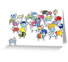 Baaah multicoloured sheep Greeting Card