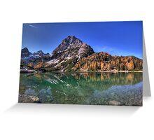 Mountainous Reflection Greeting Card