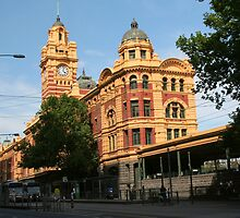 Flinders Street Station by Laurel Talabere