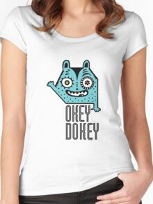 Okey Dokey Monster Women's Fitted Scoop T-Shirt