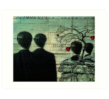 Homage To Magritte Art Print