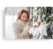 Winters portrait Canvas Print