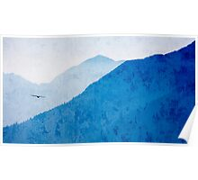 Flight Over West Coast Mountains Poster
