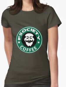 f society coffee Womens Fitted T-Shirt