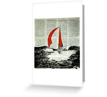 Red sails. Greeting Card