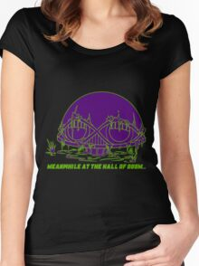 Meanwhile at the Legion of Doom Women's Fitted Scoop T-Shirt