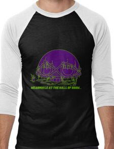 Meanwhile at the Legion of Doom Men's Baseball ¾ T-Shirt