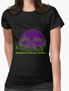 Meanwhile at the Legion of Doom Womens Fitted T-Shirt