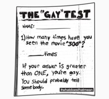 The Gay Test by wellastebu