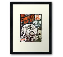 The Zombies Night Out! Framed Print