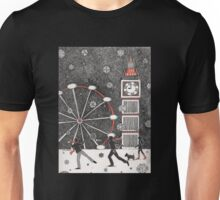 Snowball fighting in London Unisex T-Shirt