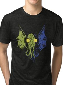 Cthulhu in the Depths Tri-blend T-Shirt