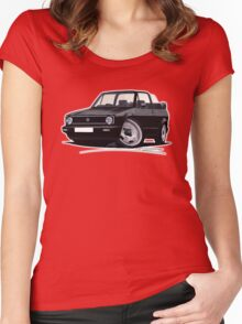 VW Golf (Mk1) Cabriolet Black Women's Fitted Scoop T-Shirt