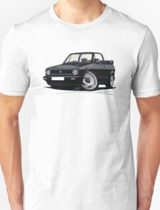 VW Golf (Mk1) Cabriolet Black T-Shirt