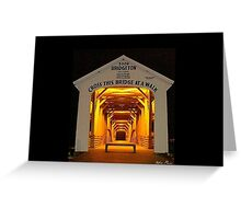 Bridgeton Covered Bridge, Bridgeton, Indiana Greeting Card
