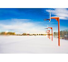 Abandoned Hoops Photographic Print