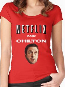 Netflix and Chilton Women's Fitted Scoop T-Shirt