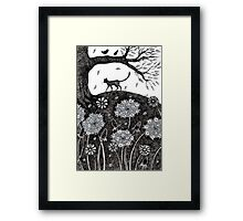 The lost cat Framed Print