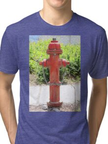 Red Fire Hydrant Tri-blend T-Shirt