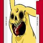 evil pikachu 2 iphone case by grafidiU