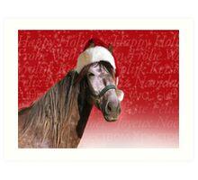 Ho-ho-ho Horse  Art Print