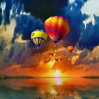 TRIP AROUND THE WORLD IN A BALOON by Elizabeth G. Fine Art