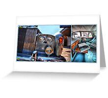 Rolls Royce Silver Shadow: detail & interior Greeting Card