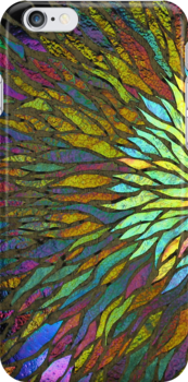 Nebula iPhone Case by Leslie Guinan