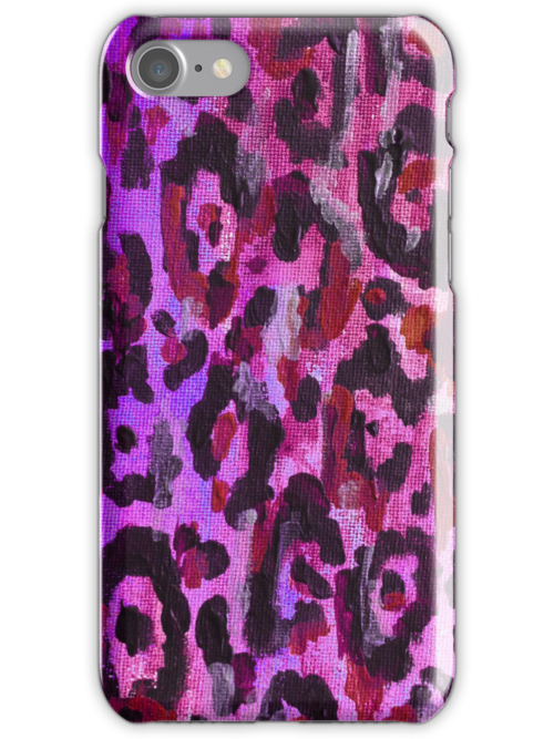Leopard Print iPhone Case - Pink by ubiquitoid