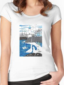 Seaside seagulls from Dover Women's Fitted Scoop T-Shirt
