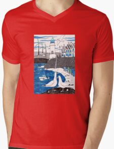 Seaside seagulls from Dover Mens V-Neck T-Shirt