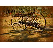 Old Rusty Hay Rake Photographic Print
