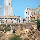 Old Buildings on Alcatraz Island by Martha Sherman