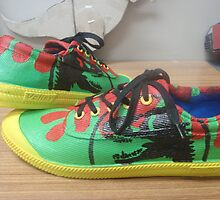Jurassic park inspired shoes by rum4life