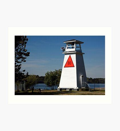 Fort Washington Lighthouse. Potomac River, Maryland. USA Art Print